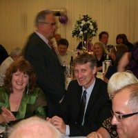 Guests Julie and Andy Parker, centre, enjoying Heidis Heroes Spring Ball