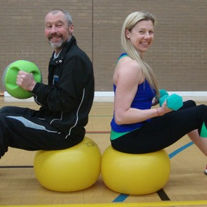 Specialist Cancer Physiotherapist Clare Lait and gym staff at Cheltenham Ladies' College Sports Centre